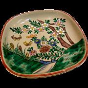 Japanese Vintage Kutani Porcelain Decorative Namasu Plate Signed