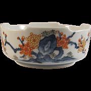 Japanese Vintage Arita- Kakiemon 柿右衛門 Porcelain Bowl with Hakkaku-Zara Rim, Signed