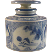 Japanese Antique Rare Hichouzan Fukagwa 肥蝶山 • 深川製  Porcelain Perfume Bottle