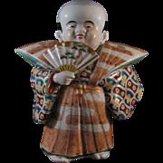 Japanese Vintage Porcelain Okimono or Statue of a Samurai