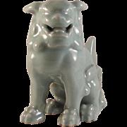 Japanese Celadon Porcelain Shishi Lion Okimono or Ornament by Legendary Potter Tozan Miyanaga II