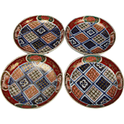 Japanese Antique Imari Porcelain Set of Kinrande Gold Gilt Kozara Side Plates