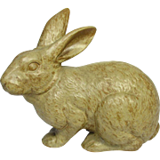 Japanese Glazed Pottery Okimono, Ornament or Statue of an Usagi 兎 or Rabbit