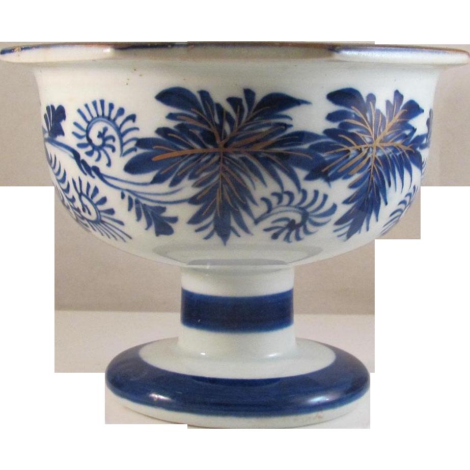 Japanese Antique Hizen  肥前 Imari Porcelain Pedestal Bowl or Compote