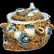 Japanese Antique Hirado 平戸 Porcelain Seashell Box -2
