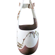 Japanese Contemporary Mino Seto Ware Pottery Mizu-baketsu Vase by Famous Potter Sekizan Kawamura