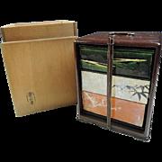 Japanese Pottery Jubako by Raku-ware Master Ryōfūken Seigetsu Raku-shi made, Stacking Food Boxes