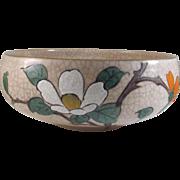 Japanese Vintage Kyoto Ware 'Ninsei-Style' Ceramic Bowl