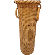 Japanese Vintage Bamboo Cylindrical Kabin or Vase for Ikebana