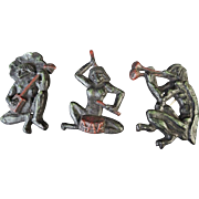 Japanese Vintage Kappa 河童 Wall Art of Iron as a Band of Musicians