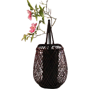 Japanese Vintage Bamboo Urushi Lacquer Ikebana Vase