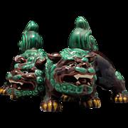 Kutani Porcelain Pair of Shishi Lions By Famous Contemporary Potter Kitamura Takashi 北村隆