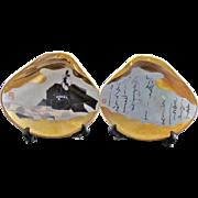Japanese Vintage Ceramic Ornaments of Kai-awase 貝合わせ Seashell Game, Ohnakatomino Yorimoto- 2