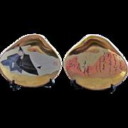 Japanese Vintage Ceramic Ornaments, Kai-awase 貝合わせ Seashell Game, Ohnakatomino Yorimoto