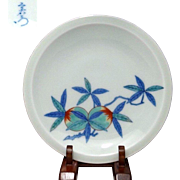 Japanese Contemporary Nabeshima 鍋島 Porcelain Plate by Great Human National Treasure, 13th Imaemon Imaizumi