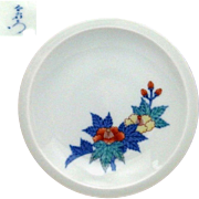 Japanese Contemporary Nabeshima 鍋島 Porcelain Plate by Great Human National Treasure, Imaemon Imaizumi 13th