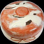 Japanese Kikko- yaki  吉向焼 Porcelain Box by Artist Kikko-Shogetsu