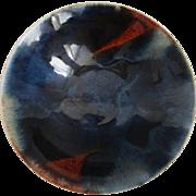 A Japanese Vintage Rare Artistic Glaze of Hira-Chawan Tea Bowl