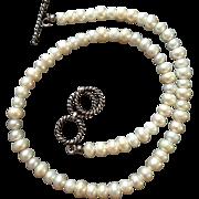 Japanese Vintage Artisan Made Biwako shinju 琵琶湖真珠 or Mixed Pearls Necklace