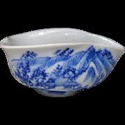 Japanese Vintage Kyo-yaki Yuzamashi Cup by Master Dohachi Takahashi VIII 道八高橋
