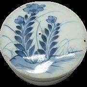 Old Edo Period Antique Seto-yaki 瀬戸焼き Porcelain Gosu Box