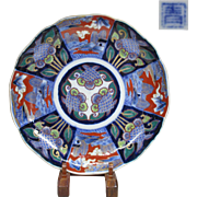 Japanese Antique Imari Porcelain Nakazara DIsh by Great Aoki Family - 1