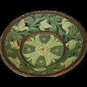 Signed Japanese Vintage Kyoto Pottery, Kyo-yaki Open Work Bowl by Heian Kakuho