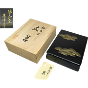 Japanese Vintage Wajima-Nuri 輪島塗 Important Papers Box of High-end Lacquerware and Chinkin Makie