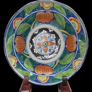 Japanese Antique Edo Imari-yaki 伊万里焼 Porcelain Hachi Bowl Rare Colorful Painting