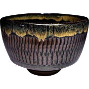 Japanese Onta Ware 小鹿田焼 Pottery Chawan or Tea Bowl