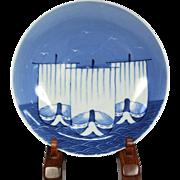 Japanese Antique Edo Period Nabeshima Porcelain Dish of Samurai Ship Motif