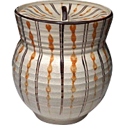 Japanese Seto-yaki 瀬戸焼き Pottery Mizusashi Water Container by First Class Potter Seiho Umemura 梅村誠保