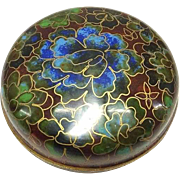 Chinese Vintage Cloisonne 香爐 Xiānglú or Incense Case, Small Box