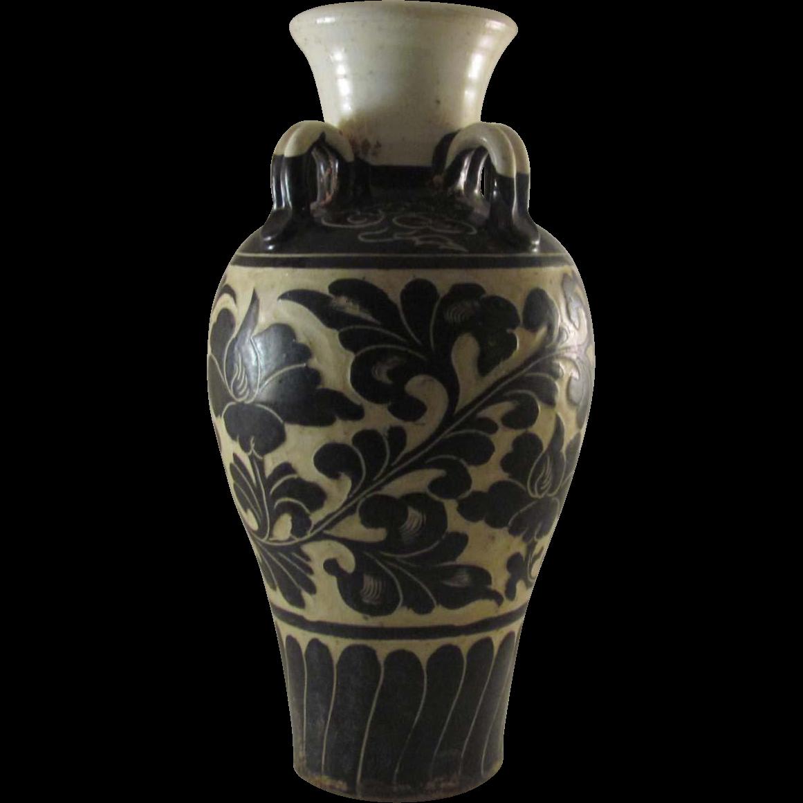 Chinese Vintage Cizhou Kiln 磁州窯 Porcelain Vase