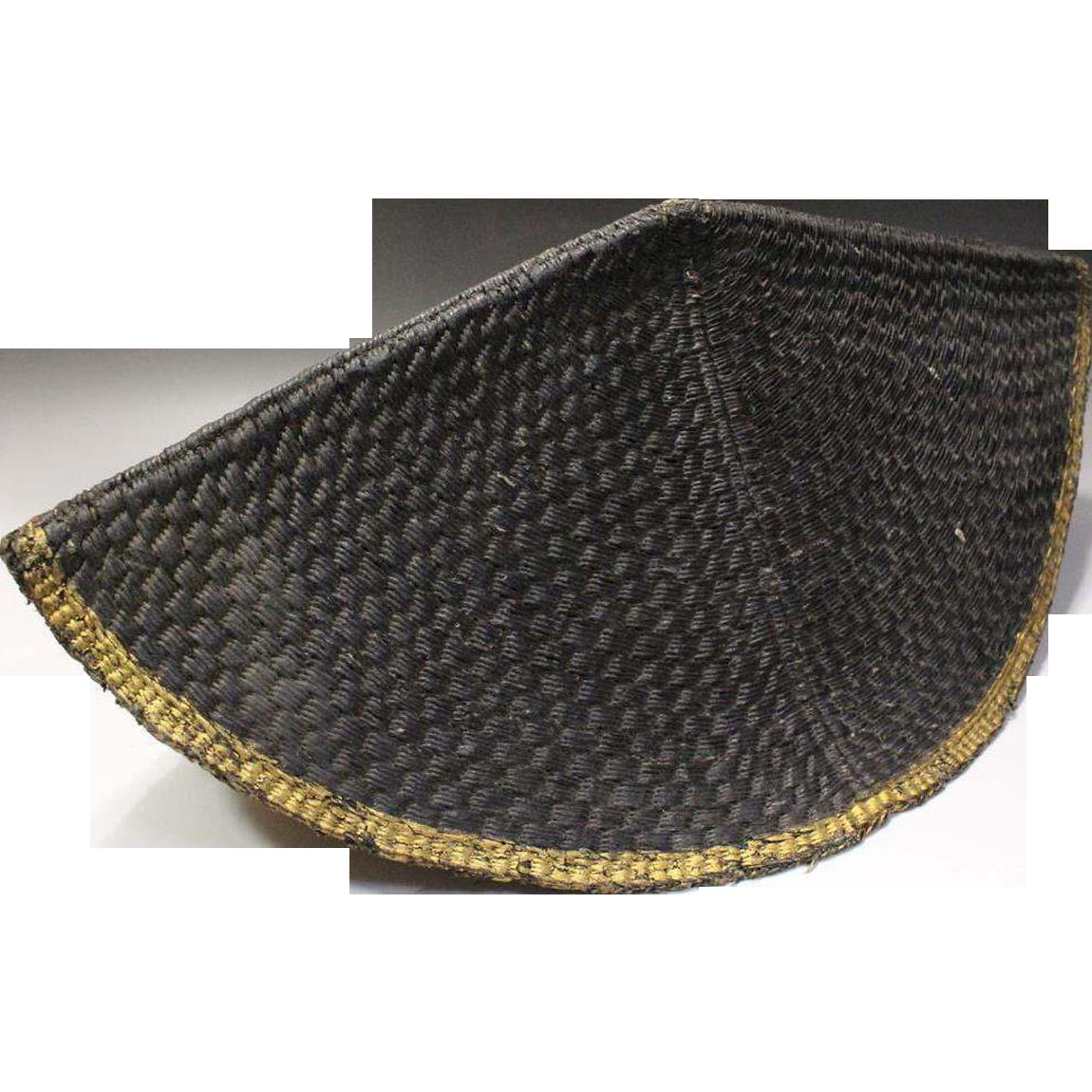 Japanese Antique Edo Nirayama Jingasa Soldier's Cap Yoroi