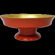 Japanese Usushi-Nuri Shikki 漆器 or Lacquer Ware Pedestal Kashiki by Famous Akira Hyoetsu Miki III