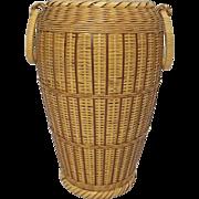 Japanese Vintage Bamboo Vase for Ikebana