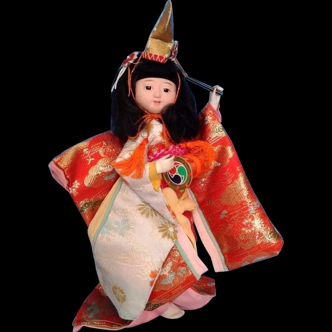 Japanese Vintage Ichimatsu Doll 一松人形 of Gofun