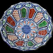 Japanese Antique ko-Imari Scalloped Bowl of Unusual Design