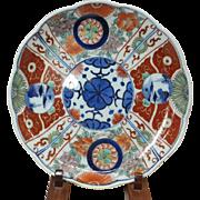 Japanese Antique Edo Imari 伊万里 Colorful Large Plate