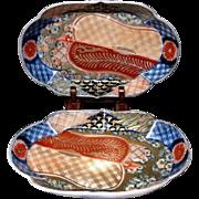 Japanese Antique Imari Porcelain Quality Dishes General's War fan