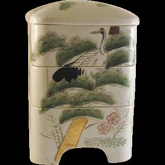Japanese Vintage Kyoto Porcelain Jubako by Rinzan Gama 林山窯