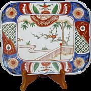 Japanese Antique Imari 伊万里焼 Porcelain Unusual Square Decorative Dish