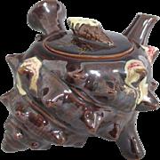 Japanese Vintage Banko Pottery Teapot Rare Turban Shell