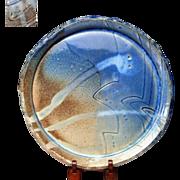 Japanese Large Dish of Mino yaki by Famous potter Hironobu Ando