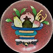 Japanese Antique  Yusen-Shippo Yaki Kogo or Trinket Box