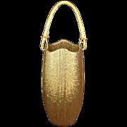 Japanese Vintage Unusual 信楽 Shigaraki ware of Hanging Vase Gold Glaze