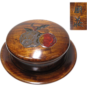 Japanese Vintage 讃岐  Sanuki Lacquered Wood Kashiki