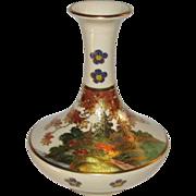 Japanese Vintage Satsuma-yaki 薩摩焼 Flower Vase by the Koshida Family Kiln