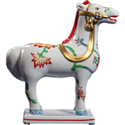 Vintage Kakiemon Style Horse by Franklin Mint